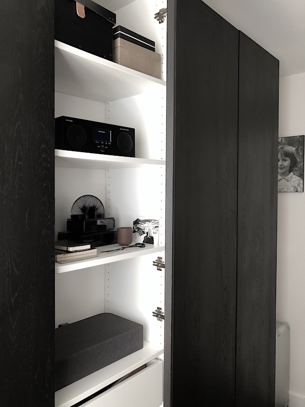 Minimal IKEA Pax cabinet hack with KOAK Design at the home of vosgesparis