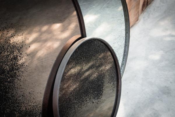 ethnicraft frameless mirror bronze