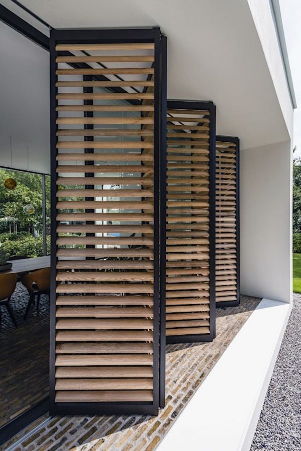 Sliding panels for a patio